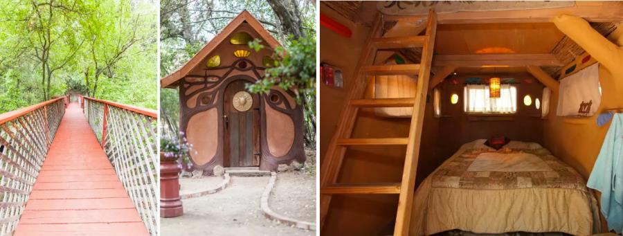 Пожить в пряничном домике и домике хоббитов
