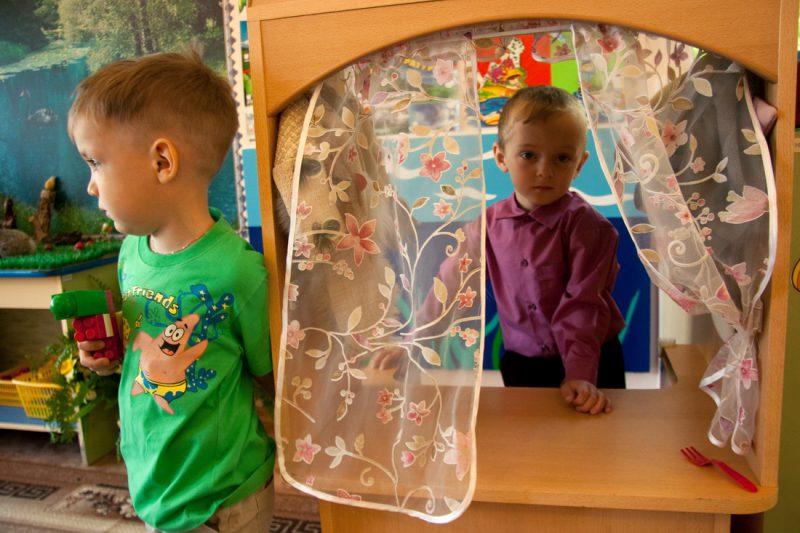Мальчики в детском саду. Россия