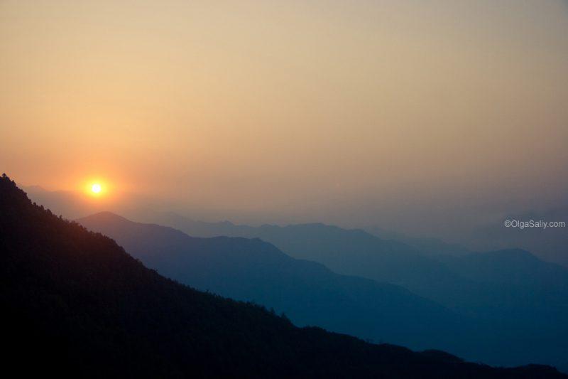 Рассвет над Сарангкотом Покхара