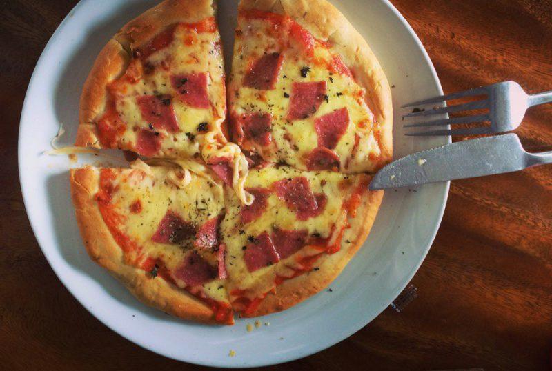 Пицца в кафе Jano на Ко Самуи не очень вкусная