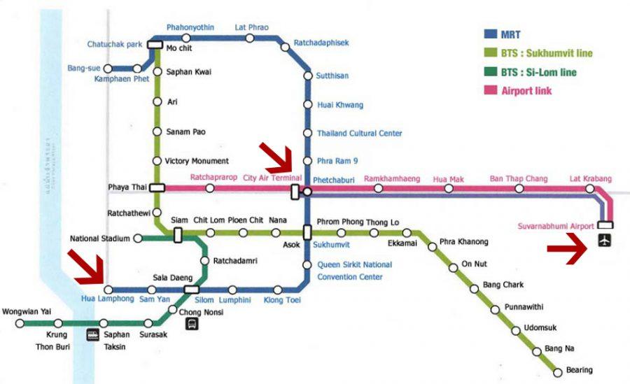 Как добраться до жд вокзала или автовокзала в Бангкоке