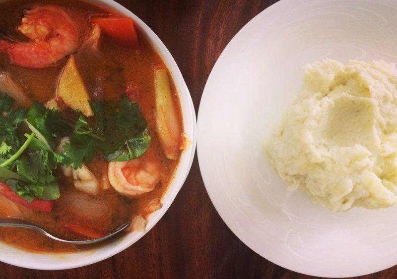 Картофельное пюре и Том Ям на Самуи, Маенам