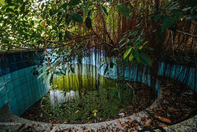 Бассейн в заброшенной вилле