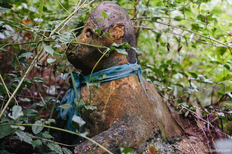 Заброшенные расстрелянные статуи на Самуи. Тайные места острова (9)