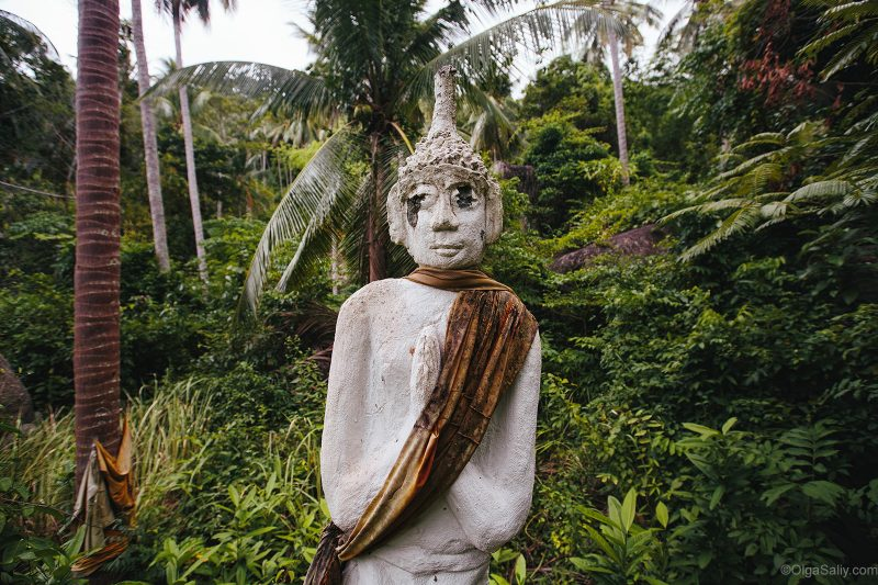 Расстрелянная статуя на Самуи