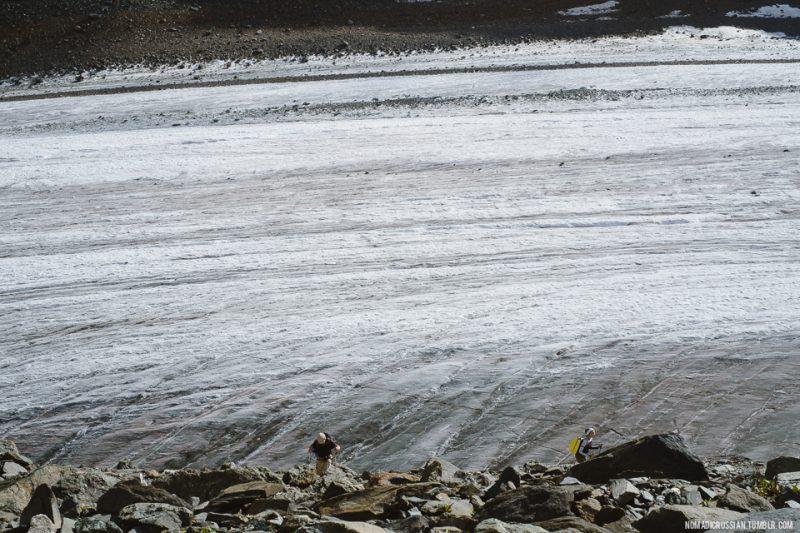 Дорога на Голубое озеро, ледник