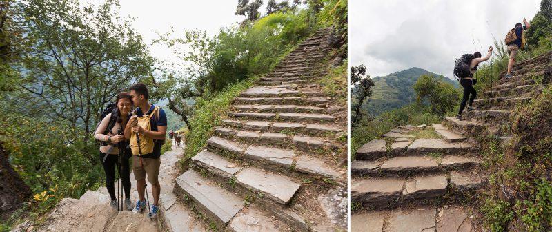 Ступени на Чомронг, свадебная фотосессия в Гималаях