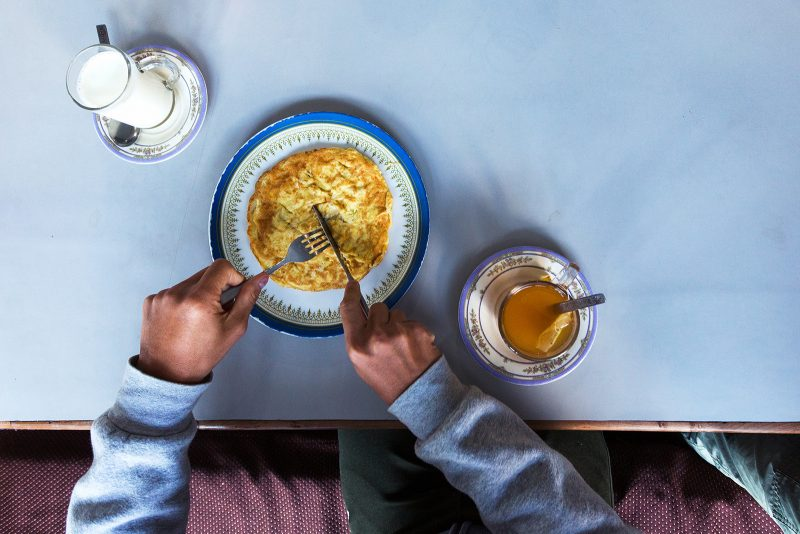Завтрак на Чомронге, трек АВС, Непал