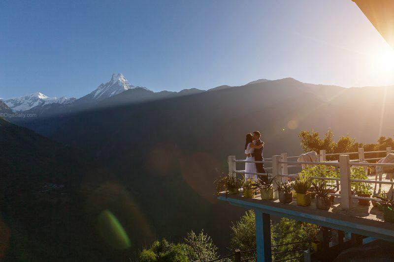 Предсвадебная съёмка, Непал, Чомронг