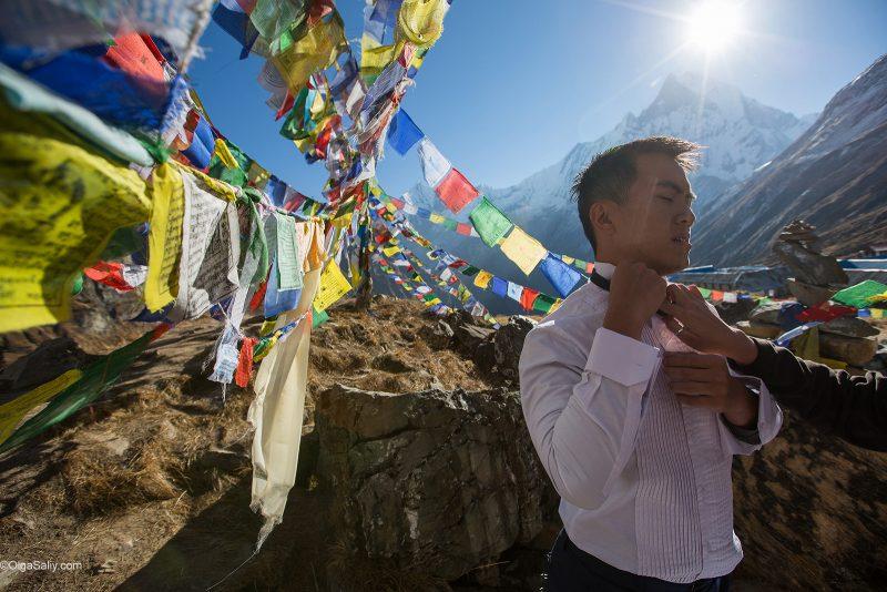 Свадебная подготовка в Гималаях высота 4130