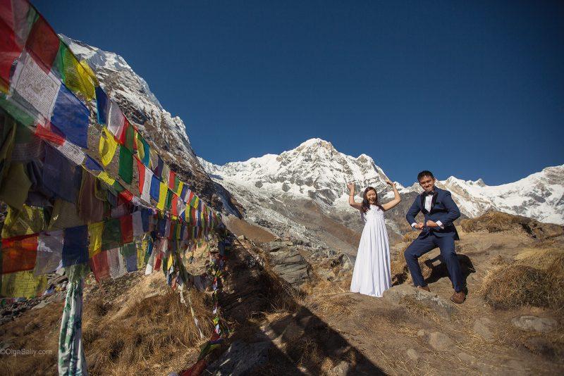 Amazing свадебная фотосессия в горах Непала
