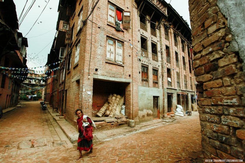 Закоулки Бхактапура, Непал