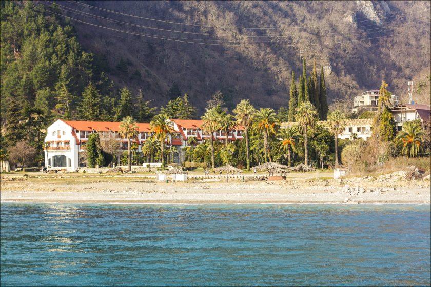 Пляж города Гагра