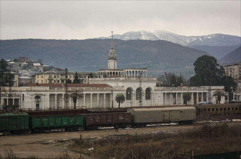 Разрушенные дома Абхазии