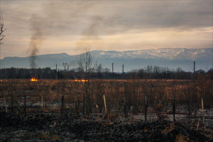 Закат в Абхазии