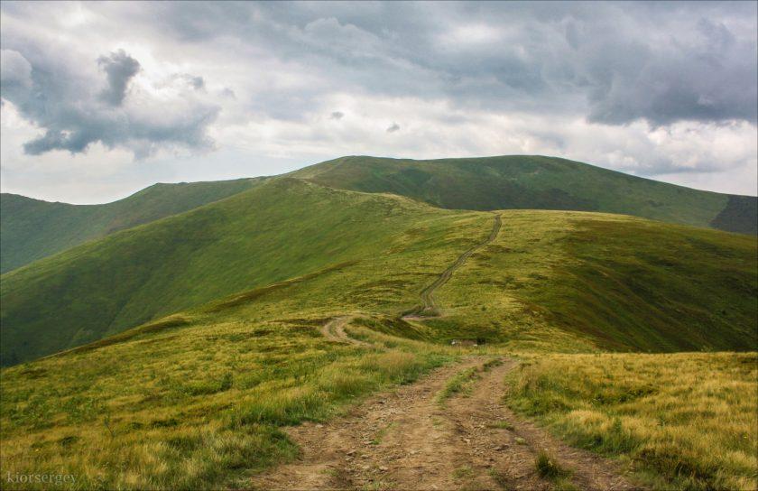 Путь на гору Великий Верх (Верхний Верх)