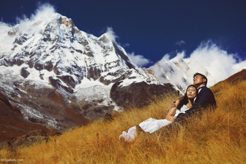 Свадебная фотосессия в Гималаях