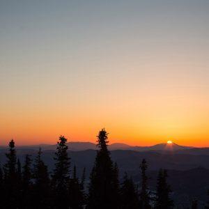 Рассвет на горе Зелёная, Шерегеш