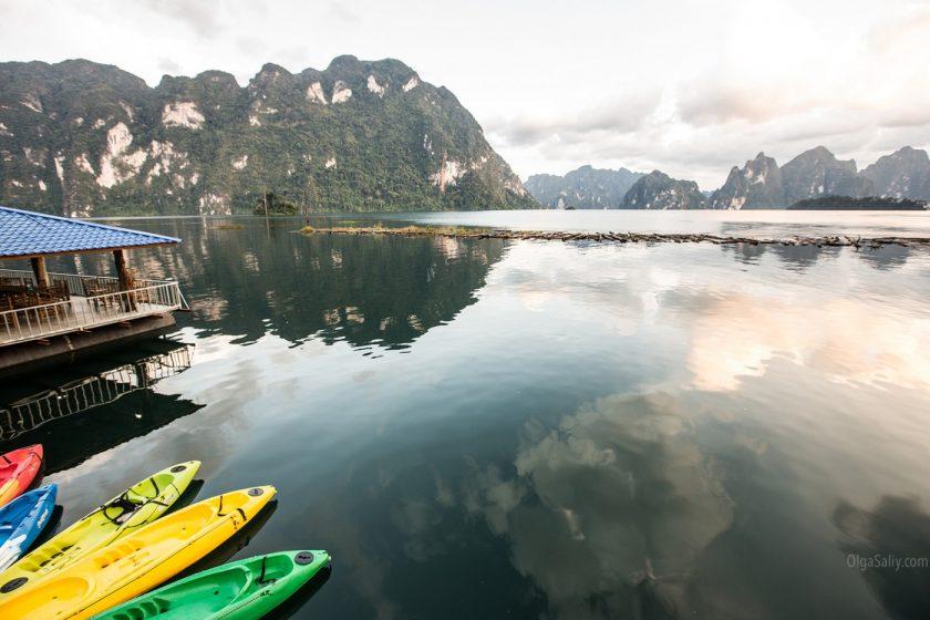 Озеро Чео Лан в парке Као Сок, Таиланд (6)