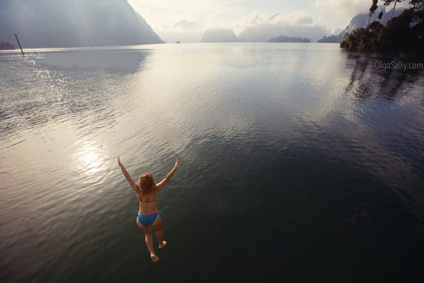Озеро Чео Лан в парке Као Сок, Таиланд (4)