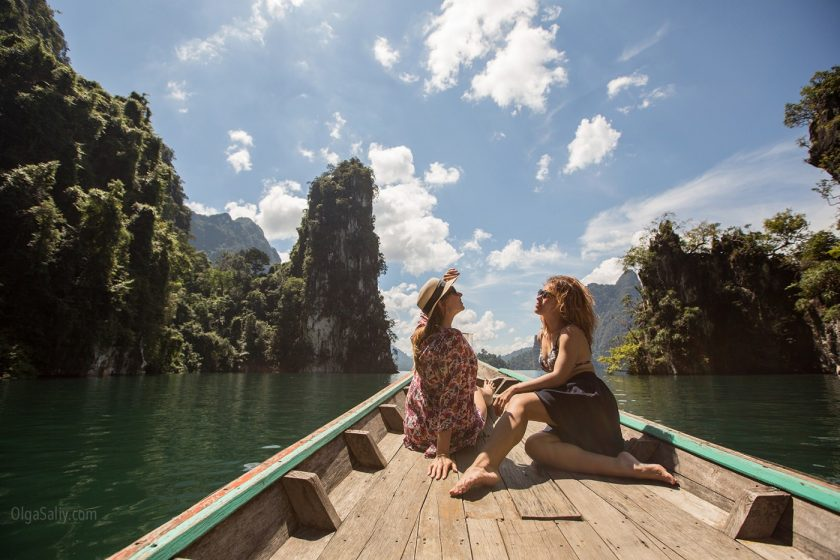 Озеро Чео Лан в парке Као Сок, Таиланд (1)