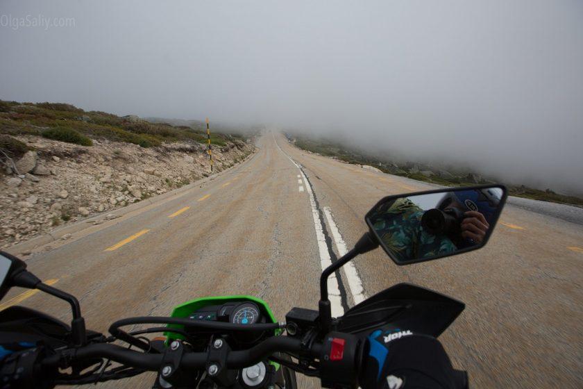 Serra da Estrela на мотоцикле
