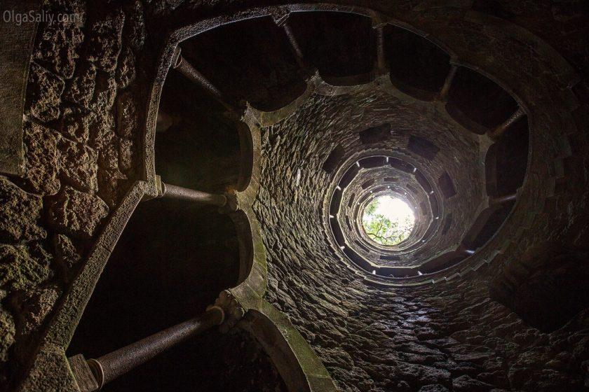Синтра, Колодец, в замке Кинта Регалейра