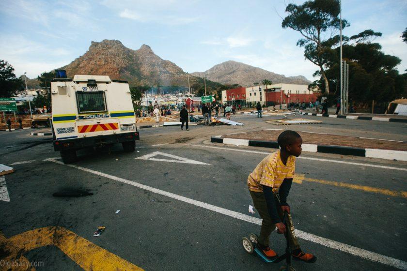 Погромы в трущобах Кейптауна