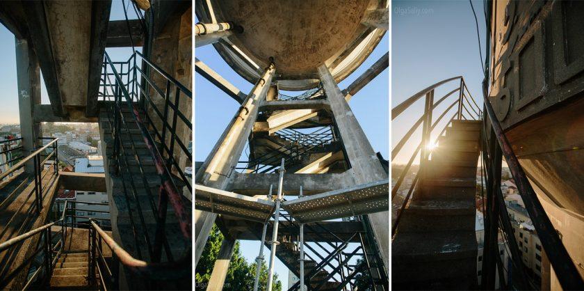 Район Monte do Tadeu и старинная водонапорная башня