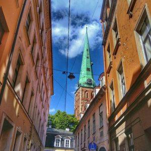 Рига, старый город, путешествие в Латвию