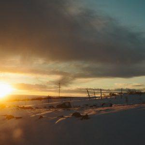 Рассвет возле Мурманска
