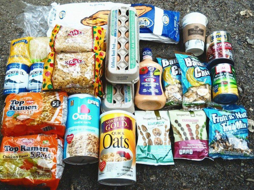 Еда в США, дешевый набор продуктов