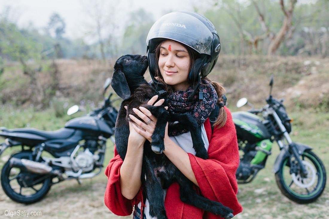 На байке в Непале
