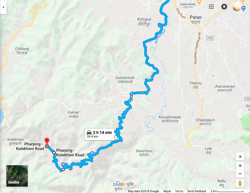 Дорога из Катманду в Читван через горы
