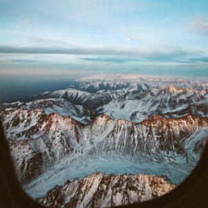 Горы Пакистана с самолета