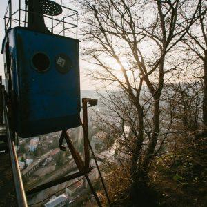 Канатная дорога в шахтерском городке Грузии