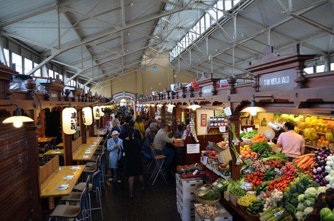Старый рынок в Хельсинки