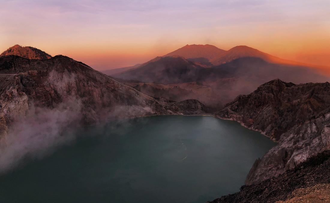 Вулкан Иджен, самостоятельный путь