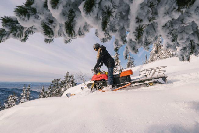 Обучение на снегоходе Шерегеш