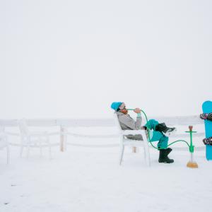 Сноуборд и кальян в Шерегеше