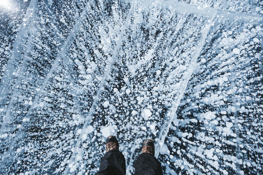 Пузырьки во льду Байкала