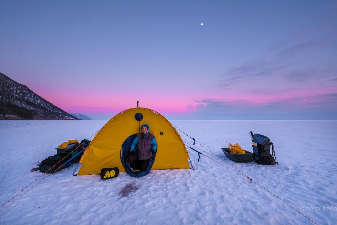 Путешествие по льду Байкала пешком самостоятельно (78)