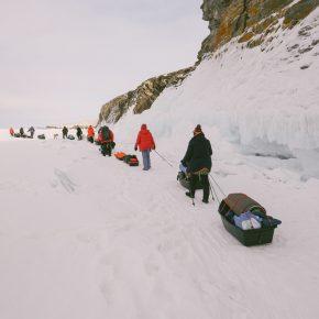 Путешествие по льду Байкала пешком самостоятельно (66)