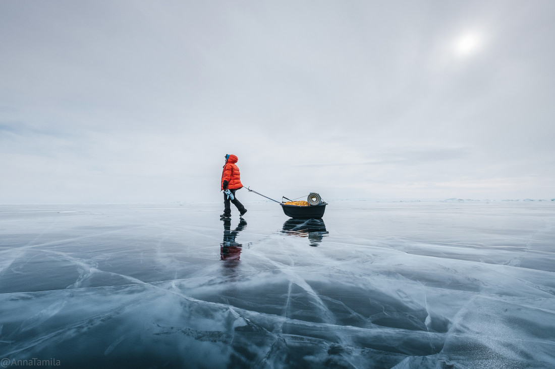 Путешествие по льду Байкала пешком самостоятельно (38)
